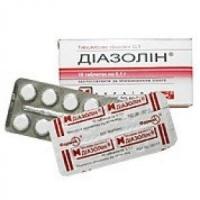 Диазолин 0.1г №10 таблетки