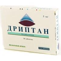 Дриптан 5 мг №30 таблетки