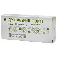 Дротаверин форте 80 мг №20 таблетки