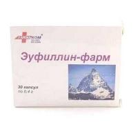 Эуфиллин-фарм 0.4 №30 капсулы