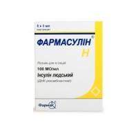 Фармасулин H 100 МЕ/мл 3 мл №5 картриджи