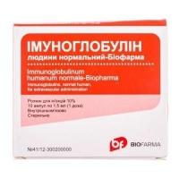 Иммуноглобулин человеческий нормальный 10% 1.5 мл №10