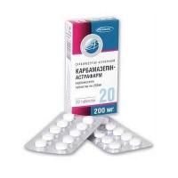 Карбамазепин-Астрафарм  200 мг N20 таблетки