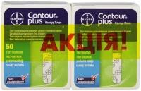 Контур Плюс N50 тест-полоски для глюкометра 2 упаковки Акция