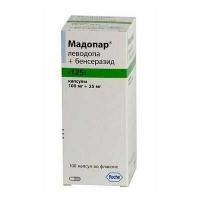 Мадопар 100 мг/25 мг №100 капсулы