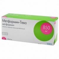 Метформин-Тева 850 мг №30 таблетки