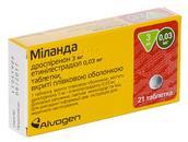 Миланда 3 мг/0.03 мг №21 таблетки