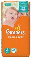 Памперс Sleep&Play Maxi 8-14кг N68 подгузники