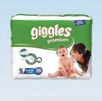 Подгузники 36 Giggles Premium Junior 11-25кг