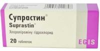 Супрастин 25 мг №20 таблетки